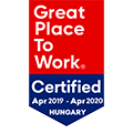 Great Place to Work díjazott 2019