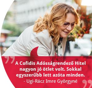 Ugi-Rácz Imre Györgyné adósságrendező hitele